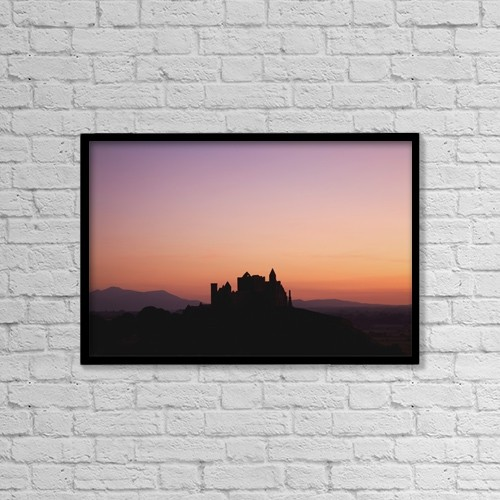 "Printscapes Wall Art: 18"" x 12"" Canvas Print With Black Frame - Cashel, County Tipperary, Ireland by Peter Zoeller"