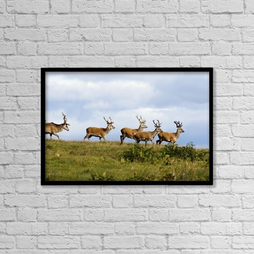 "Printscapes Wall Art: 18"" x 12"" Canvas Print With Black Frame - Isle Of Islay, Scotland by John Short"