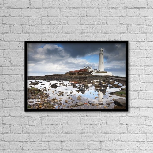 "Printscapes Wall Art: 18"" x 12"" Canvas Print With Black Frame - St by John Short"