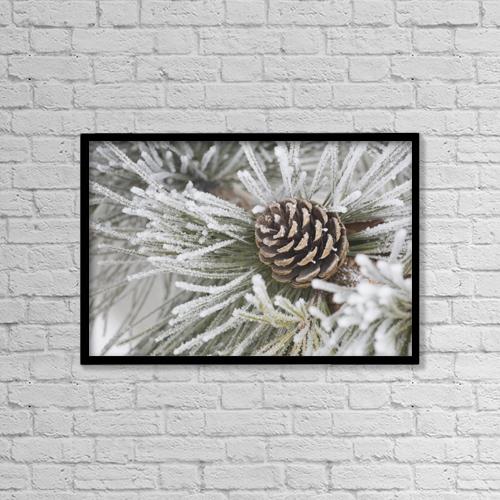 "Printscapes Wall Art: 18"" x 12"" Canvas Print With Black Frame - Calgary, Alberta, Canada by Michael Interisano"
