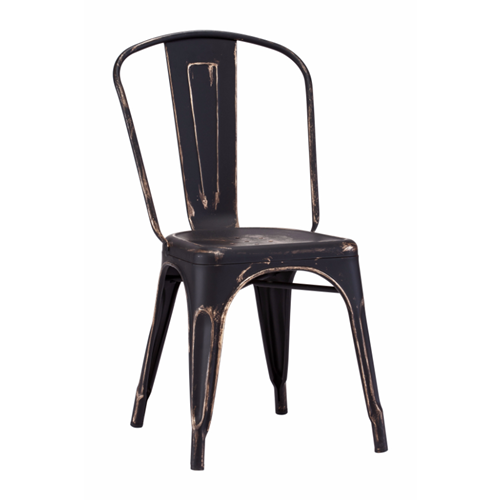 elio dining chair anti black gold