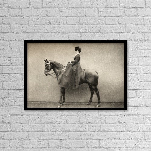 "Printscapes Wall Art: 18"" x 12"" Canvas Print With Black Frame - Mrs by Ken Welsh"