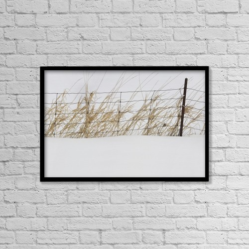 """Printscapes Wall Art: 18"""" x 12"""" Canvas Print With Black Frame - Thunder Bay, Ontario, Canada by Susan Dykstra"""