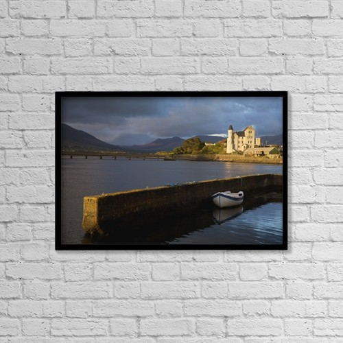 """Printscapes Wall Art: 18"""" x 12"""" Canvas Print With Black Frame - Caherciveen, County Kerry, Ireland by Patrick Swan"""