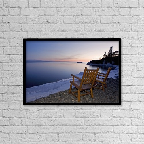 "Printscapes Wall Art: 18"" x 12"" Canvas Print With Black Frame - Travel by Susan Dykstra"