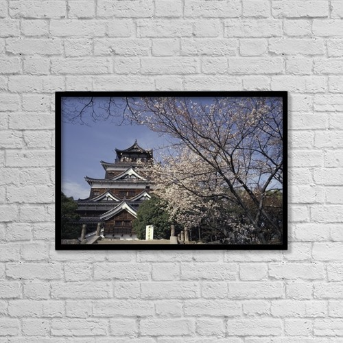 """Printscapes Wall Art: 18"""" x 12"""" Canvas Print With Black Frame - Architectural Exteriors by Paul Quayle"""