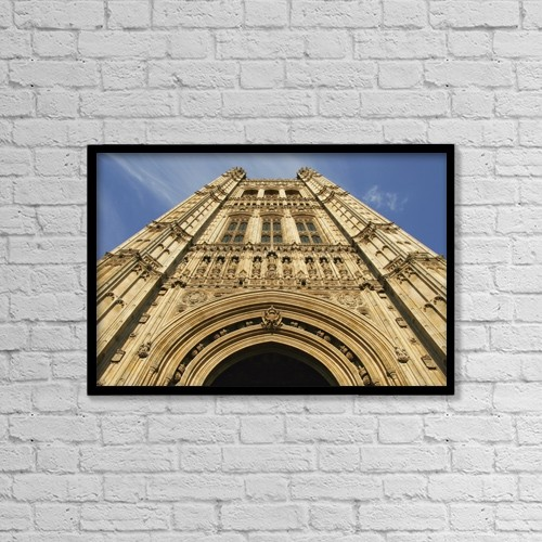 "Printscapes Wall Art: 18"" x 12"" Canvas Print With Black Frame - Victoria Tower At The Houses Of Parliament by Mark Thomas"