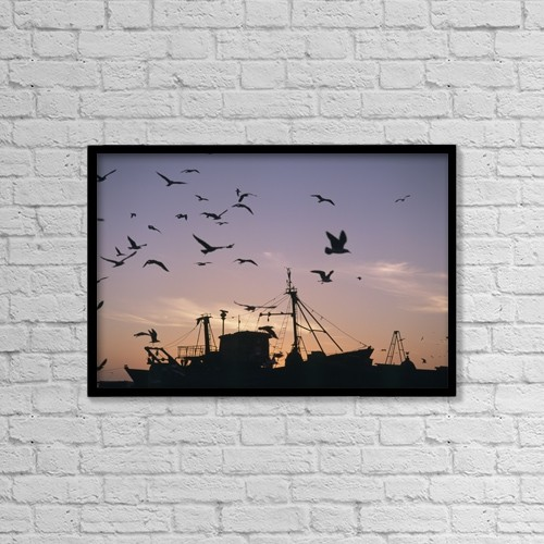 """Printscapes Wall Art: 18"""" x 12"""" Canvas Print With Black Frame - Animals by Ian Cumming"""