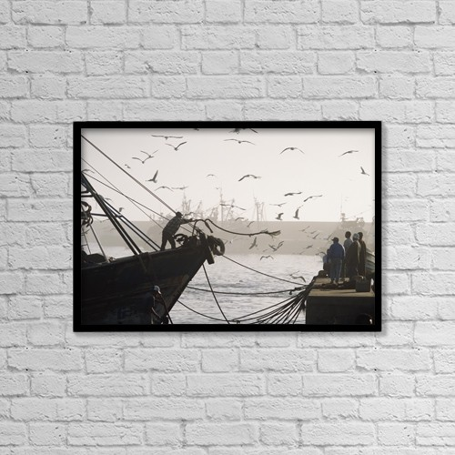 """Printscapes Wall Art: 18"""" x 12"""" Canvas Print With Black Frame - Lifestyle by Ian Cumming"""