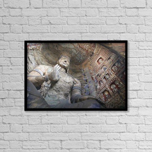 """Printscapes Wall Art: 18"""" x 12"""" Canvas Print With Black Frame - Travel by Timothy Allen"""