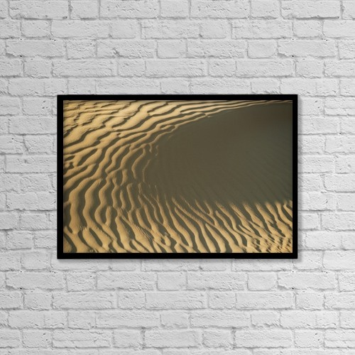 "Printscapes Wall Art: 18"" x 12"" Canvas Print With Black Frame - Ripples In Sand Dune, Close Up by Ian Cumming"