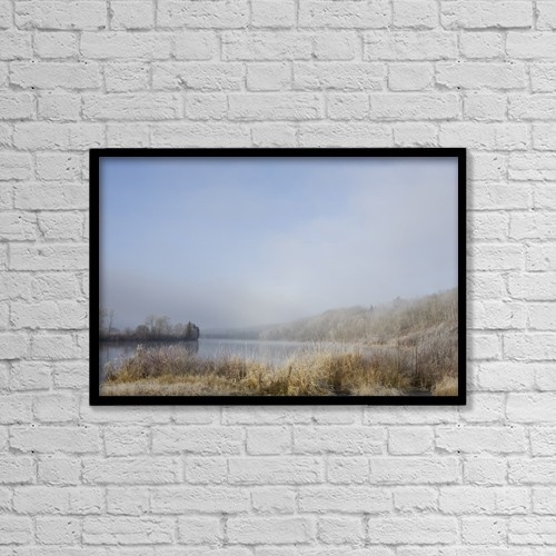 "Printscapes Wall Art: 18"" x 12"" Canvas Print With Black Frame - Weather by Susan Dykstra"