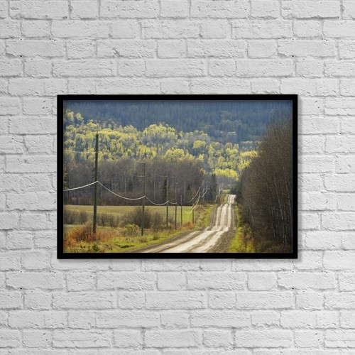 "Printscapes Wall Art: 18"" x 12"" Canvas Print With Black Frame - Roads by Susan Dykstra"