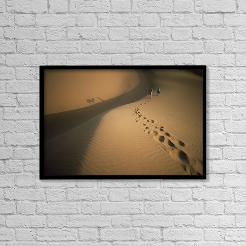 """Printscapes Wall Art: 18"""" x 12"""" Canvas Print With Black Frame - by Ian Cumming"""