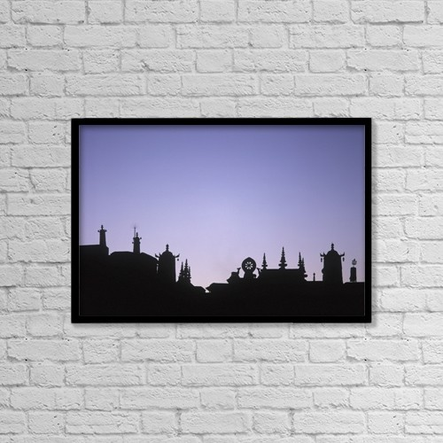 """Printscapes Wall Art: 18"""" x 12"""" Canvas Print With Black Frame - Architectural Exteriors by Ian Cumming"""