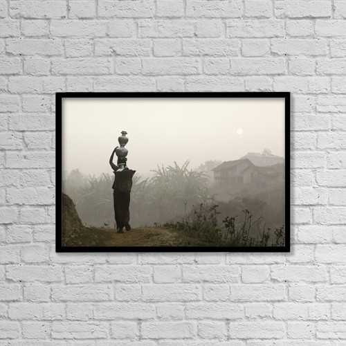 "Printscapes Wall Art: 18"" x 12"" Canvas Print With Black Frame - Scenic by Timothy Allen"