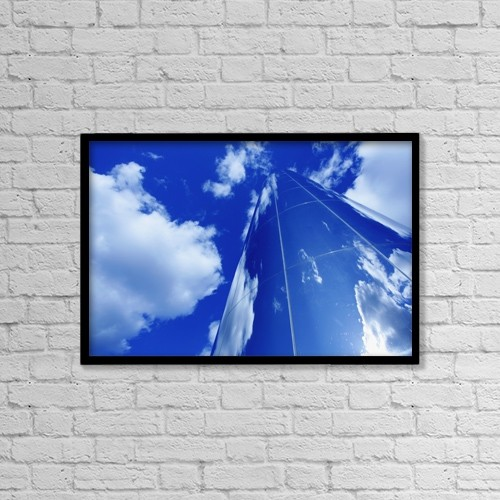 "Printscapes Wall Art: 18"" x 12"" Canvas Print With Black Frame - Architectural Exteriors by Chris Martin"