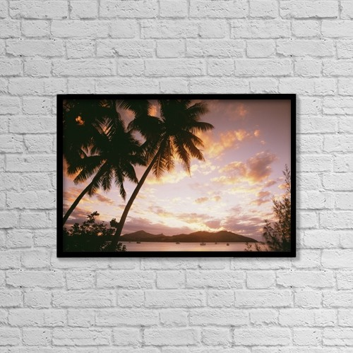 "Printscapes Wall Art: 18"" x 12"" Canvas Print With Black Frame - Scenic by Chris Parker"