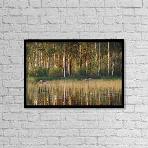 "Printscapes Wall Art: 18"" x 12"" Canvas Print With Black Frame - Landscape by Jim Holmes"