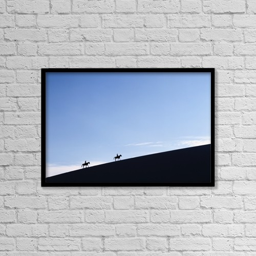 "Printscapes Wall Art: 18"" x 12"" Canvas Print With Black Frame - Travel by Ian Cumming"