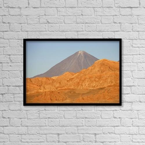 """Printscapes Wall Art: 18"""" x 12"""" Canvas Print With Black Frame - Valle De La Luna by Chris Caldicott"""