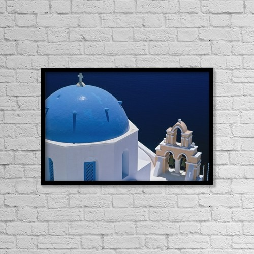 "Printscapes Wall Art: 18"" x 12"" Canvas Print With Black Frame - Church Dome, Elevated View, Close Up by Ellen Rooney"