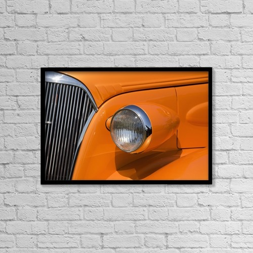 "Printscapes Wall Art: 18"" x 12"" Canvas Print With Black Frame - Transportation by Michael Interisano"