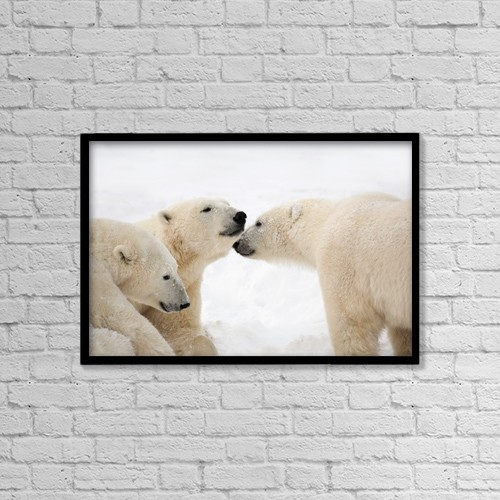 """Printscapes Wall Art: 18"""" x 12"""" Canvas Print With Black Frame - Animals by Richard Wear"""