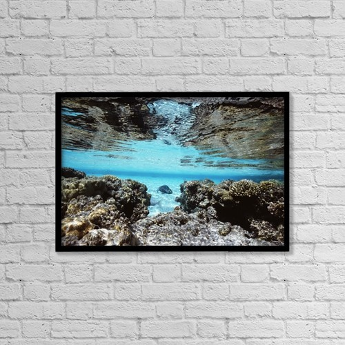 "Printscapes Wall Art: 18"" x 12"" Canvas Print With Black Frame - Travel by Alex Misiewicz"