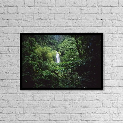 "Printscapes Wall Art: 18"" x 12"" Canvas Print With Black Frame - Trafalgar Falls by Ian Cumming"
