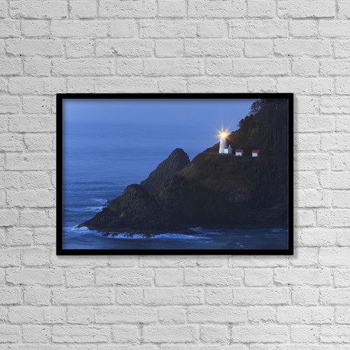 "Printscapes Wall Art: 18"" x 12"" Canvas Print With Black Frame - Oregon, United States Of America by Craig Tuttle"