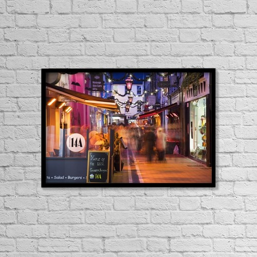 """Printscapes Wall Art: 18"""" x 12"""" Canvas Print With Black Frame - Cork, County Cork, Ireland by Peter Zoeller"""