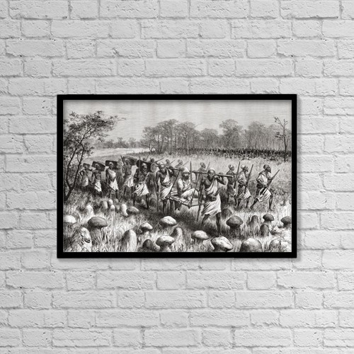 "Printscapes Wall Art: 18"" x 12"" Canvas Print With Black Frame - Explorer Pietro Paolo Savorgnan Di Brazz by Ken Welsh"
