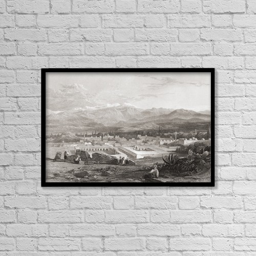 "Printscapes Wall Art: 18"" x 12"" Canvas Print With Black Frame - Tarsus, Turkey by Ken Welsh"