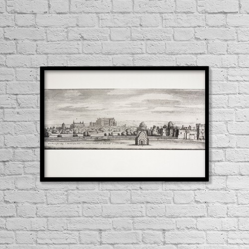 "Printscapes Wall Art: 18"" x 12"" Canvas Print With Black Frame - London, England by Ken Welsh"