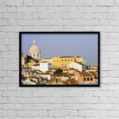 "Printscapes Wall Art: 18"" x 12"" Canvas Print With Black Frame - View Of Town Of Alfama by Ingrid Rasmussen"