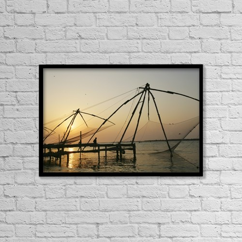 """Printscapes Wall Art: 18"""" x 12"""" Canvas Print With Black Frame - Sports and Recreation by Chris Caldicott"""