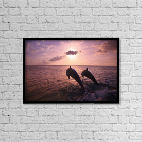 "Printscapes Wall Art: 18"" x 12"" Canvas Print With Black Frame - Roatan, Bay Islands, Honduras by Stuart Westmorland"