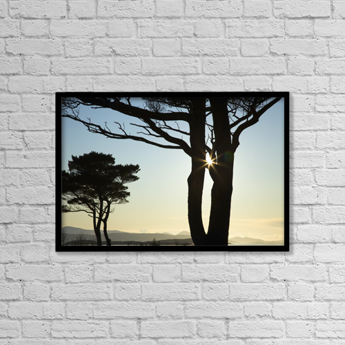 """Printscapes Wall Art: 18"""" x 12"""" Canvas Print With Black Frame - Parknasilla, County Kerry, Ireland by Peter Zoeller"""