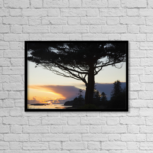"Printscapes Wall Art: 18"" x 12"" Canvas Print With Black Frame - Parknasilla, County Kerry, Ireland by Peter Zoeller"