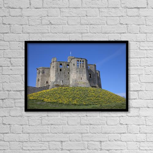 "Printscapes Wall Art: 18"" x 12"" Canvas Print With Black Frame - Warkworth, Northumberland, England by John Short"