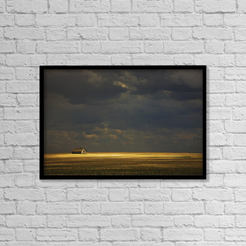 "Printscapes Wall Art: 18"" x 12"" Canvas Print With Black Frame - Tofield, Alberta, Canada by Darren Greenwood"