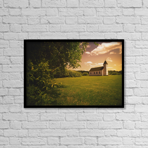 "Printscapes Wall Art: 18"" x 12"" Canvas Print With Black Frame - Alberta, Canada by Darren Greenwood"
