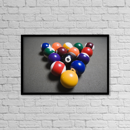 "Printscapes Wall Art: 18"" x 12"" Canvas Print With Black Frame - Sports and Recreation by Michael Interisano"