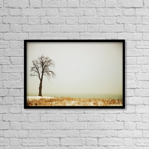 "Printscapes Wall Art: 18"" x 12"" Canvas Print With Black Frame - Jordan, Ontario, Canada by Pete Stec"