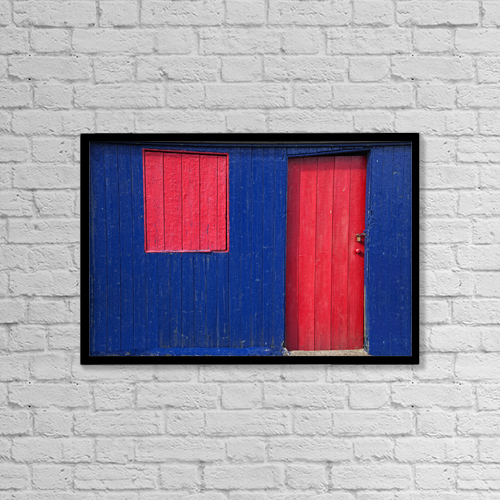 """Printscapes Wall Art: 18"""" x 12"""" Canvas Print With Black Frame - St by John Short"""