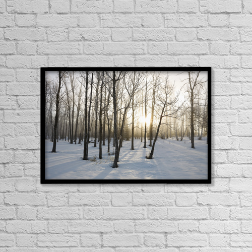 "Printscapes Wall Art: 18"" x 12"" Canvas Print With Black Frame - Ontario, Canada by Susan Dykstra"