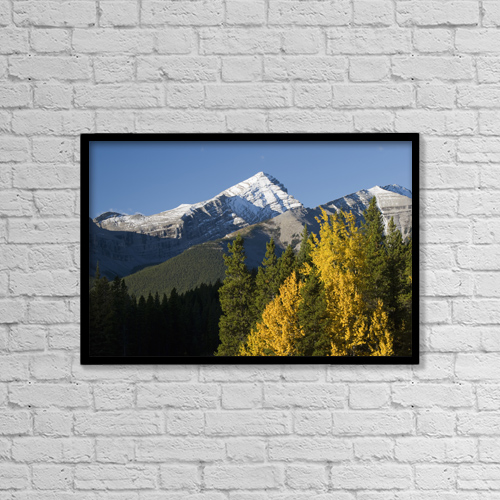 "Printscapes Wall Art: 18"" x 12"" Canvas Print With Black Frame - Autumn Colors In The Rocky Mountains by Philippe Widling"