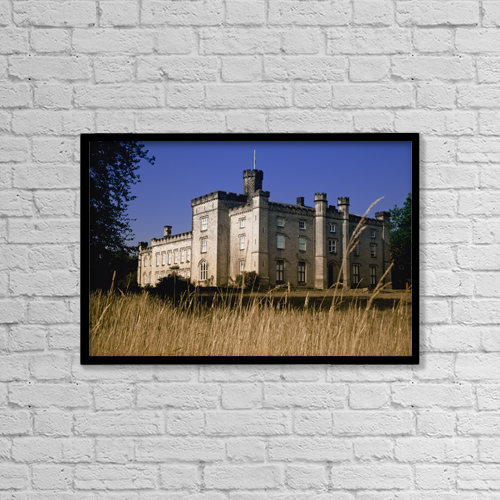 "Printscapes Wall Art: 18"" x 12"" Canvas Print With Black Frame - Chiddingstone Castle Exterior by Chris Parker"