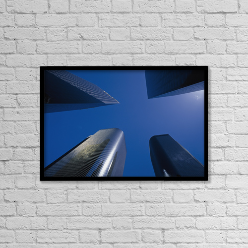 "Printscapes Wall Art: 18"" x 12"" Canvas Print With Black Frame - Architectural Exteriors by Conor Caffrey"
